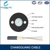 Cable de fibra óptica Unitube de Gyfxy de la fuente de la fábrica No-Acorazado con los alambres de FRP en la chaqueta del PE 2side