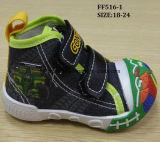 De recentste Mooie Schoenen van de Zuigeling van de Schoenen van het Canvas van de Baby van de Schoenen van de Injectie (ff516-1)