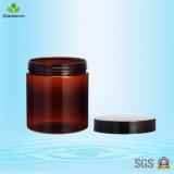янтарный пластичный косметический контейнер 500ml с пластичными крышками для Scrub сливк