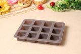 12 квадратной чашки прессформы конфеты торта силикона формы