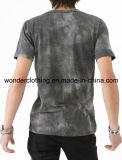 صبغ تأثير نمو [ف] عنق يطبع يلاءم [توب قوليتي] رجال [ت] قميص
