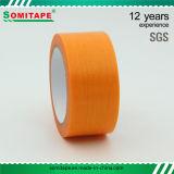 Band van de Buis van de Kleur van de Band van Somi de Oranje/het tape/No-Residu van de Buis Maskerend Afplakband voor Muurschilderij en het Schilderen van de Auto
