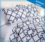 ロイヤルブルーパターンは綿の羽毛布団カバーセットを印刷した