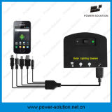 Mini sistema di illuminazione domestico solare con il caricatore del telefono mobile delle 2 lampadine