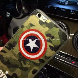 Cas de capitaine Shield Soft TPU Protective de conception de mode pour l'iPhone