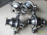 Food Grade Stainless Steel Sanitaria Tri Clamped válvula de retención