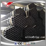 Negro laminado en caliente soldado alrededor del tubo de acero