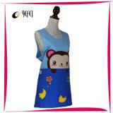 Impressão 100%Cotton bordada Applique do macaco que cozinha o avental da cozinha