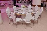 Chaise empilable de banquet d'acier inoxydable d'élégance