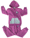 Inverno Fleece Kids Girl Sports Wear Suit in Children 's Clothes Swg-135