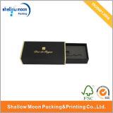 Firmenzeichen-heißer stempelnder schwarzer Papierverpackungs-Kasten (QY150002)