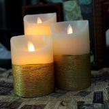 Bewegendes Flickering LED Candle mit Yellow Surface