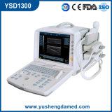 Máquina portátil médica do ultra-som com Ce Ysd1300 aprovado de dois transdutores