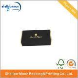 Caisse d'emballage de papier noire de estampage chaude de logo (QY150002)