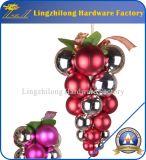 Tambor de Yoland 24CT que chapeia ornamento Multicolor da esfera do Natal