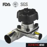 Tipo sanitario válvula de diafragma (JN-DV1007) de 3 maneras U del acero inoxidable
