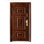 Sola entrada de puerta del dormitorio de la hoja de la puerta de la puerta de acero (FD-1022)