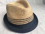 Смешанным зашитый цветом шлем сторновки Fedora оплетки