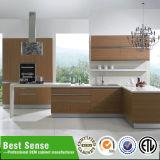 Het kunstmatige Marmeren Uitstekende Modulaire Amerikaanse Gelamineerde Ontwerp van de Keuken