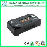 De intelligente Auto15A ZonneRegelgever van het Voltage 12/24V/het ZonneControlemechanisme van de Last (qwp-VS1524U)