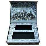 Boîte-cadeau de papier de luxe avec la garniture intérieure d'EVA dans la forme de livre