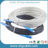 Todo el cable óptico de fibra de la mariposa FTTH de las fibras del dieléctrico FRP 1-4 (GJXFH)
