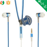 Colorful in Ear 3.5mm Zipper Earphone, Zipper Earbuds Headphone