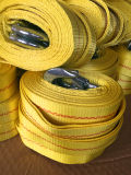 Cinghia di rimorchio con la cinghia d'acciaio di colore di colore giallo dell'amo