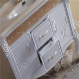 Plancher de qualité tenant la vanité de salle de bains de PVC avec le Cabinet de miroir