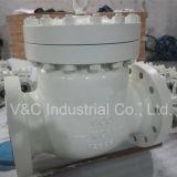 API600 Kohlenstoffstahl Wcb Schwingen-Rückschlagventil mit geflanschtem HF-Ende
