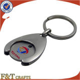 Supermarkt Shopping Euro Size Metal Trolley Coin mit Keyring (FTTR0102A)