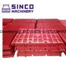 Placa da maxila das peças sobresselentes do triturador para Metso Shanbao