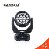 Niedrigster Preis-Cer RoHS eben optischer LED 19 PCS 12W RGBW beweglicher Kopf mit Summen-Licht