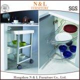 N & L Mintcream Color A prova de humidade Open Shelf Porta de vidro Gabinete de cozinha