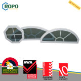 Projeto arqueado fixo plástico térmico da grade de indicador de vidro da isolação UPVC