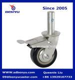 Сверхмощное колесо полиуретана черноты рицинуса ремонтины 4 дюйма