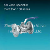 Wb44 ASTM A216 Wcb Carbon Steel 3PC Flanged Ball Valve Pn