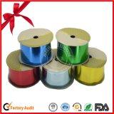 Cinta del globo de color del papel de regalo Cintas de plástico de color del arco iris en rollo