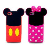 Mickey MinnieのiPhone 6のためのかわいい耳のシリコーンの電話箱カバー(XSD-017、XSD-018)