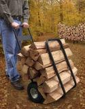 Cremalheiras de aço do armazenamento da lenha com rodas