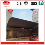 Тент ненесущей стены сарая алюминиевого навеса автопарка гиперболичный (Jh165)