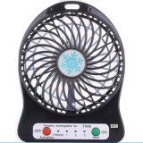 Ventilateur rechargeable de refroidissement portatif de course d'alimentation par batterie en plastique d'air d'ABS
