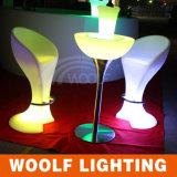 Café colorido de Stool& LED de la barra para los taburetes de barra baratos de Table&