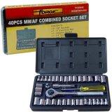 """전력 공구 부속품 Socket Set Metalworking 40PCS 1/4 """" & 3/8 """" 박사"""