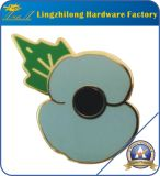 Poppy Design Lucent Glitter Poppy Flower Badge