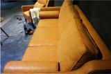 Il sofà antico del cuoio genuino dell'olio della cera ha impostato per il salone (GLS-006)