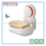 Поднос тарелки держателя коробки мыла чашки всасывания стены ливня санузла пластичный