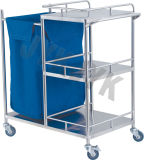 Steel di acciaio inossidabile Cart per Making up Bed & Nursing