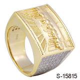 형식 보석 925 은 14 K 금 보석 남자의 반지