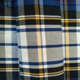 Baumwollpopelin-gesponnenes Garn gefärbtes Gewebe 100% für Hemden/Kleid Rlsc40-33